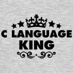 c language king 2015 - Men's T-Shirt