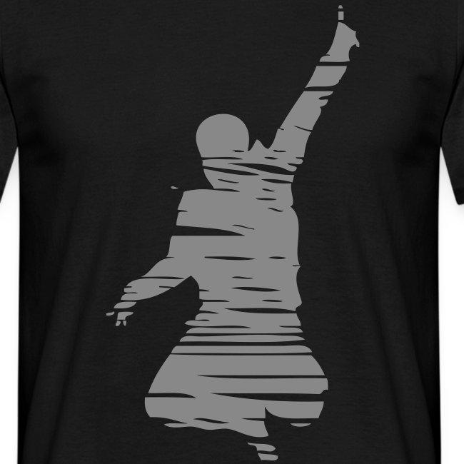 Jumping Man Schraffur Sparkle - Man Shirt