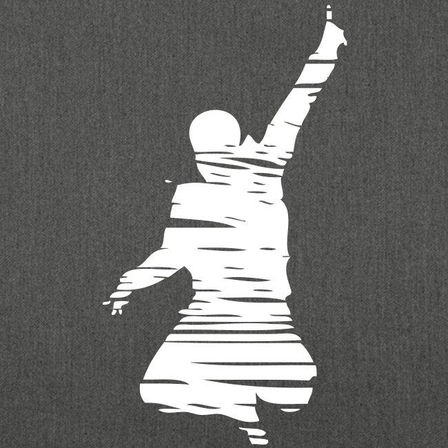 Jumping Man Schraffur - Schultertasche