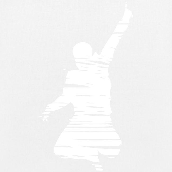 Jumping Man Schraffur - Stoffbeutel