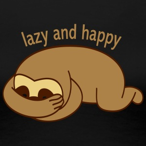 lazy and happy T-Shirts - Women's Premium T-Shirt