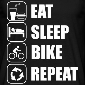 Eat,sleep,bike,repeat bike T-shirt - Mannen T-shirt