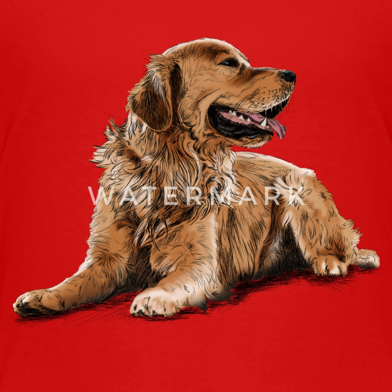 Golden Retriever Skjorter - Premium T-skjorte for tenåringer