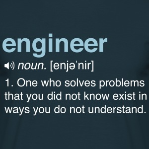 Funny Engineer Definition T-Shirts - Men's T-Shirt