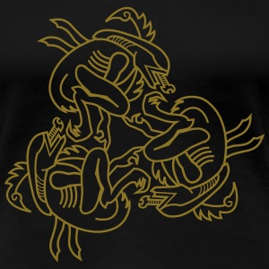 Three Aliens - Frauen Premium T-Shirt