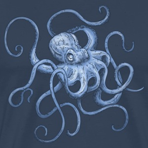 Navy Octopus T-Shirts - Men's Premium T-Shirt