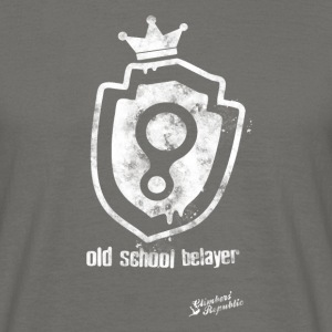 Old school belayer Tee shirts - T-shirt Homme