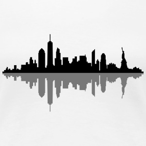 Skyline New York City T-Shirts - Frauen Premium T-Shirt