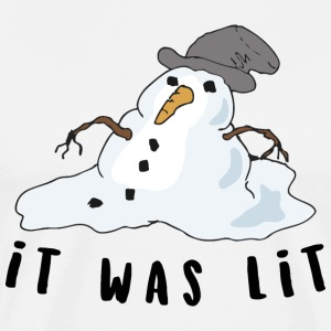 it was lit snowman - Men's Premium T-Shirt