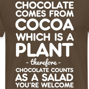 Chocolate comes from Cocoa. A salad T-Shirts - Men's Premium T-Shirt