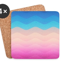 Pride Rainbow Wave (Colorful Geometric) Phone Case Mugs & Drinkware - Coasters (set of 4)