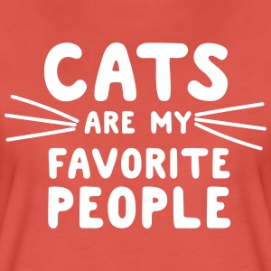 Cats are my favorite people T-Shirts - Women's Premium T-Shirt