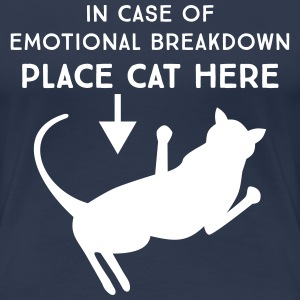 In case of emotional breakdown. Place cat here T-Shirts - Women's Premium T-Shirt