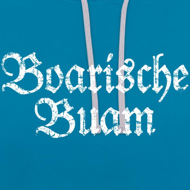 Boarische Buam (Vintage/Weiß) Kontrast Hoodie