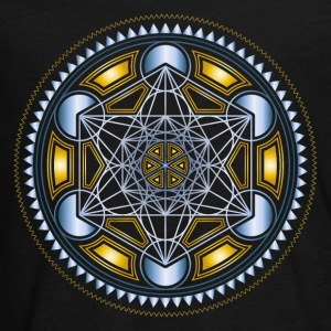 METATRONS CUBE, FLOWER OF LIFE, SPIRITUALITY Long Sleeve Shirts - Teenagers' Premium Longsleeve Shirt