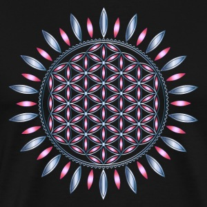 FLOWER OF LIFE, SACRED GEOMETRY, SPIRITUALITY T-shirts - Mannen Premium T-shirt