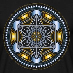 METATRONS CUBE, FLOWER OF LIFE, SPIRITUALITY T-Shirts - Men's T-Shirt
