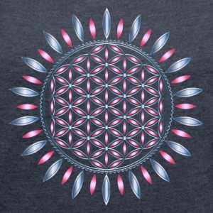 FLOWER OF LIFE, SACRED GEOMETRY, SPIRITUALITY Tee shirts - T-shirt Femme à manches retroussées