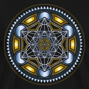 METATRONS CUBE, FLOWER OF LIFE, SPIRITUALITY  - Men's Premium T-Shirt