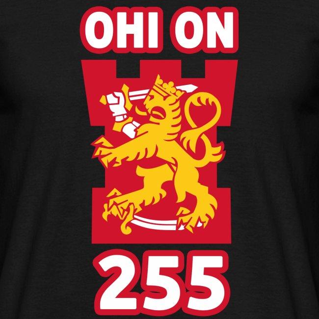 Ohi on 255 t-paita