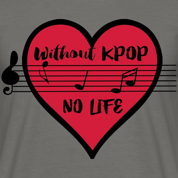 Without KPOP no life Men's T-Shirt - Men's T-Shirt