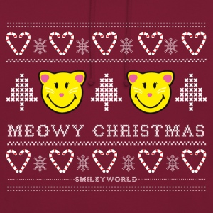 SmileyWorld Cute Cats Meowy Christmas - Felpa con cappuccio unisex