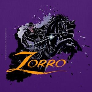 Zorro Riding On His Black Mount Tornado - Stoffveske