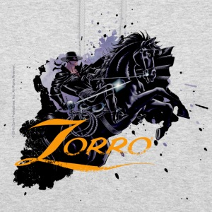 Zorro Riding On His Black Mount Tornado - Felpa con cappuccio unisex