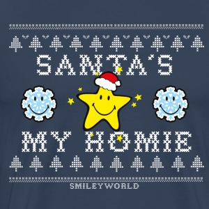 SmileyWorld Christmas Star Santa's My Homie - Premium T-skjorte for menn