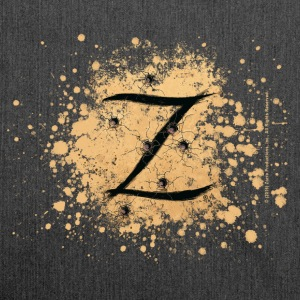 Zorro The Hero's Trademark Letter Z Initial - Shoulder Bag made from recycled material