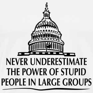 TRUMP: Stupid People in Large Groups T-shirts - Mannen Premium T-shirt