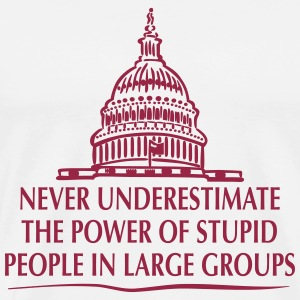 TRUMP: Stupid People in Large Groups T-Shirts - Men's Premium T-Shirt