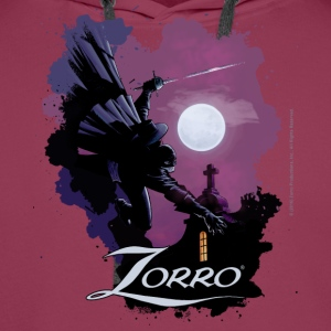 Zorro Hero By Night In Front Of A Full Moon - Men's Premium Hoodie