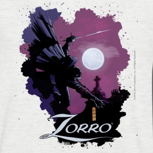 Zorro Hero By Night In Front Of A Full Moon - Men's V-Neck T-Shirt