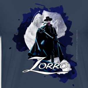 Zorro Hero By Night Standing On A Rooftop - Camiseta premium hombre