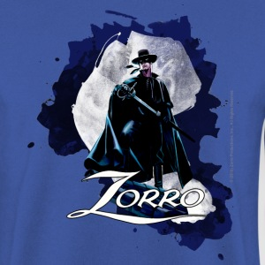 Zorro Hero By Night Standing On A Rooftop - Men's Sweatshirt