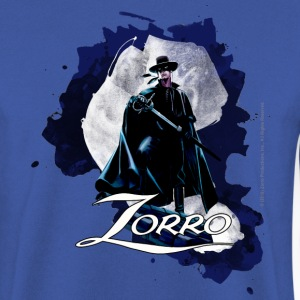 Zorro Hero By Night Standing On A Rooftop - Herrtröja