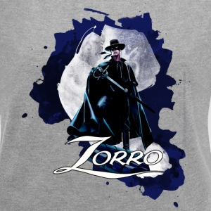 Zorro Hero By Night Standing On A Rooftop - Camiseta con manga enrollada mujer