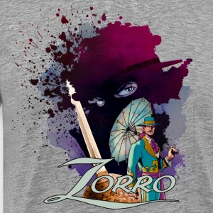 Zorro Don Diego Avenger And Nobleman Painting - Men's Premium T-Shirt