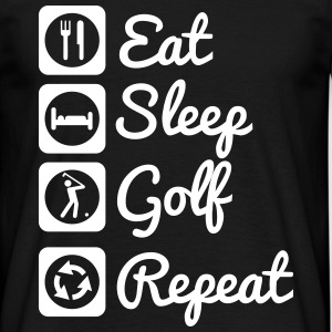 Eat,sleep,golf,repeat - Men's T-Shirt
