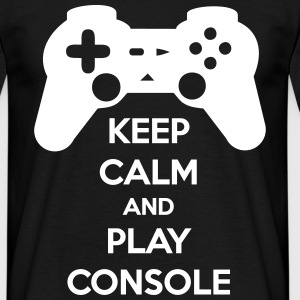 keep calm and play console - Men's T-Shirt