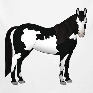 Paint Horse black white head vorn.png Baby Bodysuits - Longlseeve Baby Bodysuit