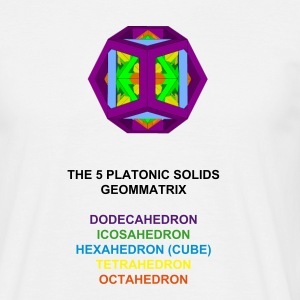 THE 5 PLATONIC SOLIDS - Men's T-Shirt