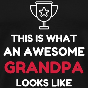 Grandpa Grandad Grandfather Family Baby Funny T-Shirts - Men's Premium T-Shirt