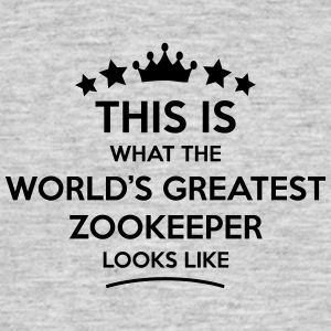 zookeeper world greatest looks like - Men's T-Shirt