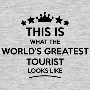tourist world greatest looks like - Men's T-Shirt