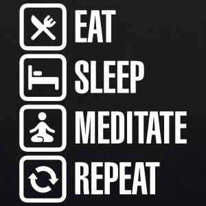 Eat -  sleep - meditate - repeat Bolsas y mochilas - Bolsa de tela ecológica
