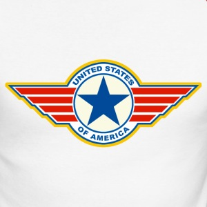 usa united states 08 Manches longues - T-shirt baseball manches longues Homme