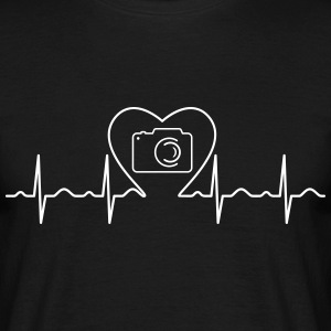 Heartbeat Love Photography T-Shirts - Men's T-Shirt