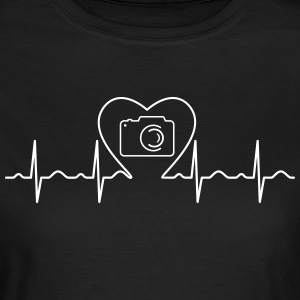 Heartbeat Love Photography T-shirts - T-shirt dam